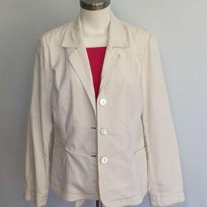 J. Jill Blazer 98% Cotton 2% Spandex w/ Embroidery